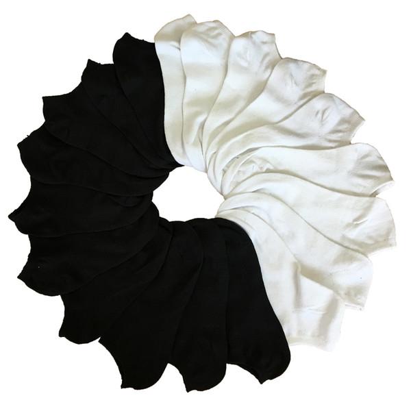 top popular 10Pair Women's Socks Short Female Low Cut Ankle Socks for Women Ladies White Black Socks Short Chaussette Femme Summer 2020
