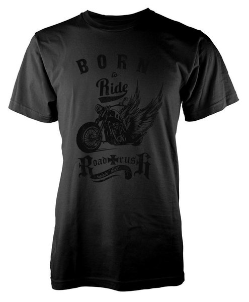 BNWT BORN TO RIDE ROAD RUSH MOTORCYCLE WINGED CHOPPER ADULT T-SHIRT S-XXL