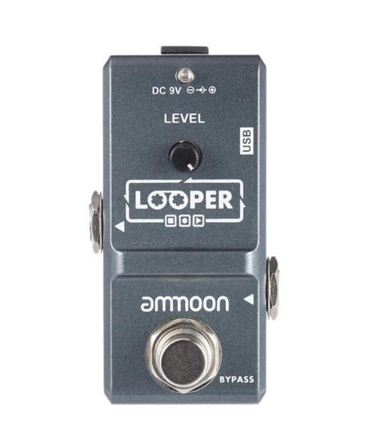 ammoon AP-09 Loop Guitar Pedal Looper электрогитара педаль эффект True Bypass неограниченное количество наложений 10 минут записи