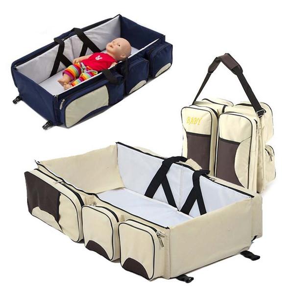 Tragbare Babybetten Neugeborenen Safe Kinderbett Taschen Faltbare Infant Travel Tragbare Falten Babybett Windel Mummy Taschen Kinderwagen
