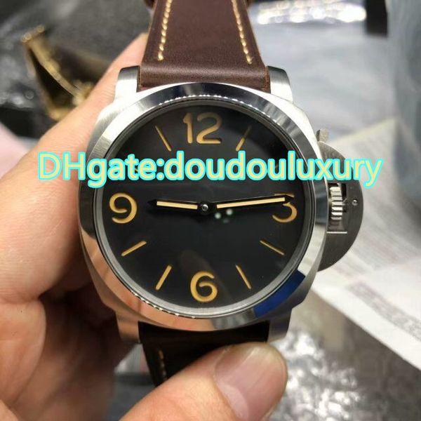 Бутик мужские часы коричневый кожаный ремешок водонепроницаемый модные часы серебряный корпус из нержавеющей стали горячие продажи джентльмен модные часы