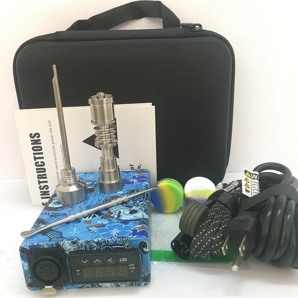 Newest ENAIL kits with QUartz TI titanium nails 16mm 20mm flat 10mm portable e nail dab kit with coil heater for glass bongs