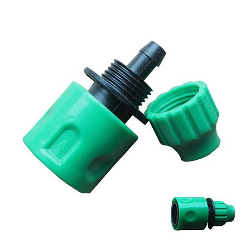 Garden Universal Water Hose Pipe Tap Connector Adapter Pipe Plastic Connectors Gardening Accessories Fit 3/8'' Green Color 1PC
