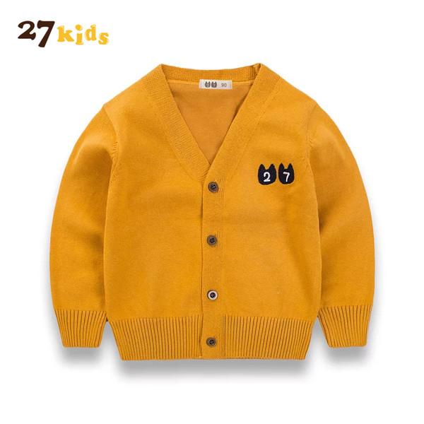 27Kids New Autumn Baby Girls Sweater Kids Knitwear Sweaters Boys Knitted Sweater Girls Clothes Children Outerwear