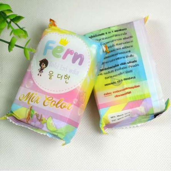 Original Thailand handgemachte Regenbogen Seife Gesichtshaut Obst ätherisches Öl Soap Whiten feuchtigkeitsspendende N40