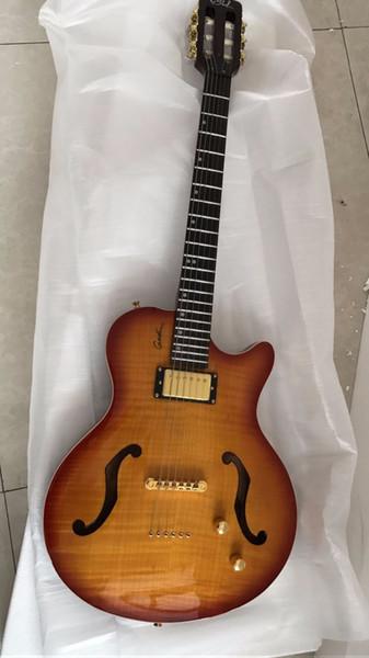 Vendita all'ingrosso New Classic Chitarra acustica 6 corde anti-strappo Top Quality In Sunburst 170315