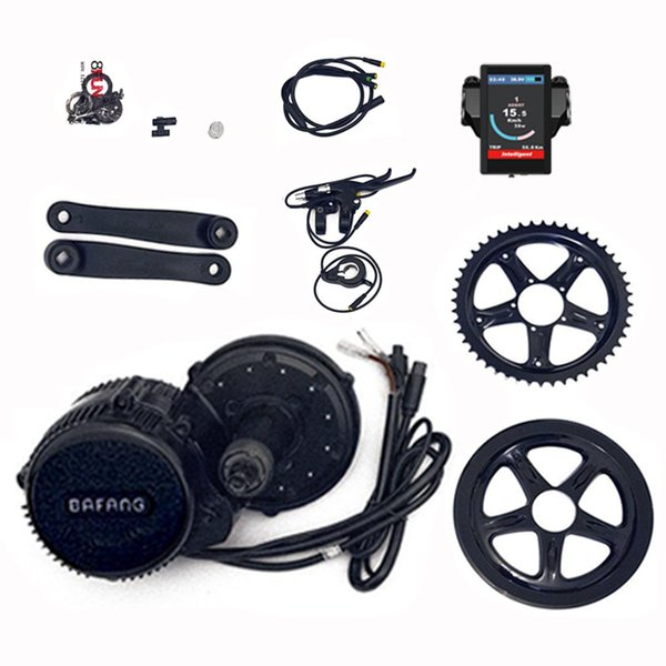 wholesale BBS02 48V 750W 8fun Mid Drive Motor Ebike bicycle Conversion Kit bicycle motor with Colour Display