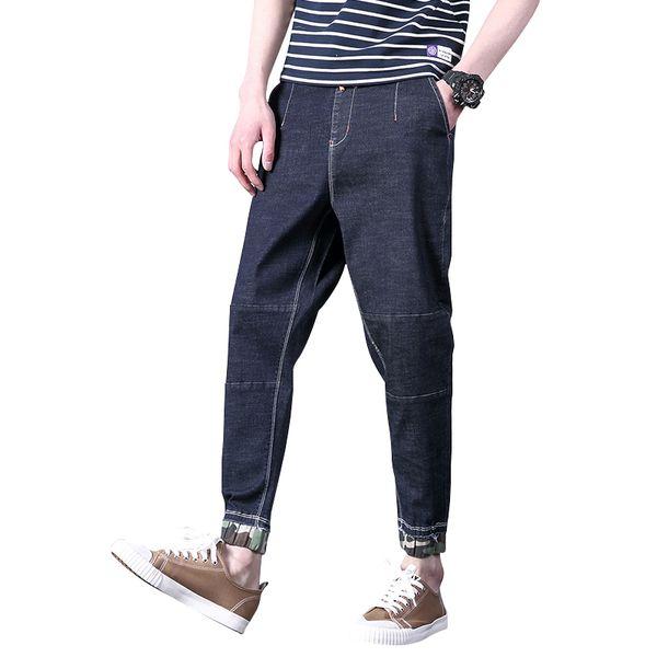 High Quality Big Size 30-42 44 46 Fashion Blue Casual Harem Pants Men Jeans Denim Jogger Design Hip Hop Joggers For Men 2018 New