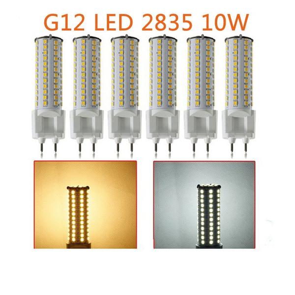 10pcs a lot Dimmable 10W G12 led light 100mm length G12 led PL lamp LED corn bulb AC85-265V