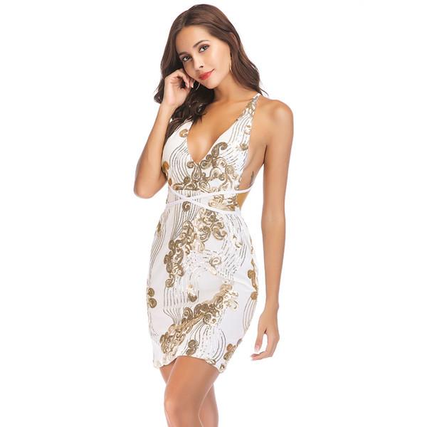 Femmes Sexy Vêtements Moulante Midi Blanc Belle Western Cou Modèles Robe Pour Robes De Dames