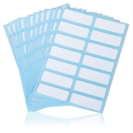 top popular 12 sheets White Price Sticker Name Number Blank Note Writable Lables Tags 13mm x 38mm Jewelry Accessories 2021