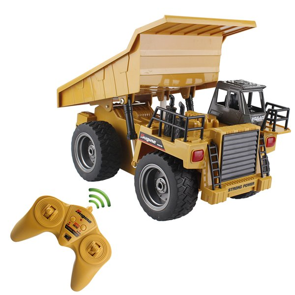 RC Truck Alloy Dumper Tilting Cart 2.4G 4WD Tip Lorry Remote Control Mine Machine Truck Electronic Vehicle Model Hobby Toys