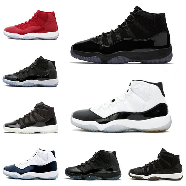 Cap and Gown 11 11s Mens Basketball Shoes concord with number 45 men women Trainers sneakers sports shoe size 5.5-13 wholesale