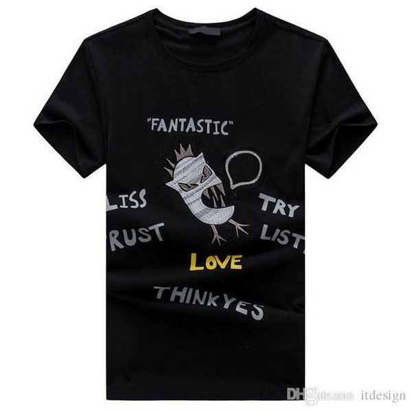 2018 BB Print Letters T-Shirt Men's Street Fashion Design Quick Dry Cotton BOSS Tee Slim-Fit Spring Summer Top Wears