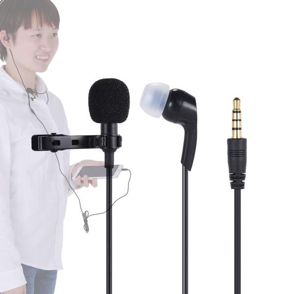 Mini Ansteck Lavalier Mikrofon Mic Kopfhörer 3,5 mm Klinke Freihändig verdrahtete Kondensatormikrofone für iPhone iPad Smartphone Computer PC