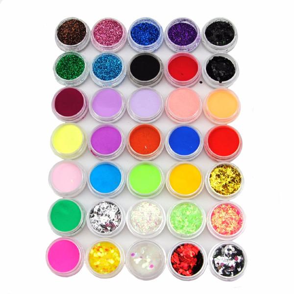 Nails Pro Acrylpulver Nagel Kit Falsche Tipps Diy Acrylnagel Liquid Vollacrylnagel Pulver Staub Glitter Pulver Maniküre