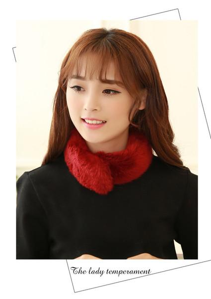 2017 modello imitare la sciarpa di capelli di coniglio vestito-abito tenere caldo sciarpa collo coreano nuovo modello imitare in pelle e dickie voi