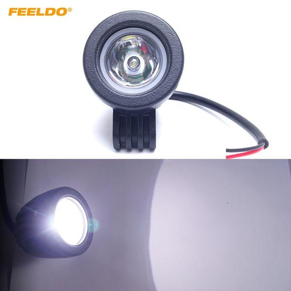 FEELDO 2 Pulgadas 10 W LED de luz de trabajo 12V-24V Spot Flood Off Road Worklight Lámpara antiniebla para motocicleta camión barco SUV DRL # 1062