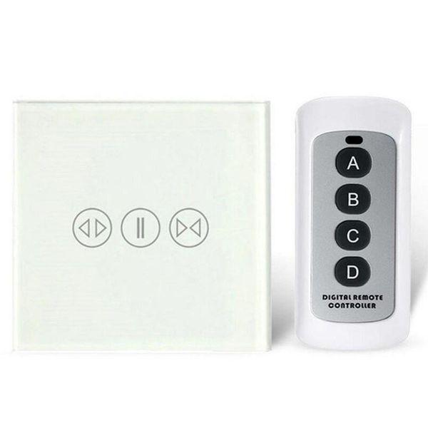 EU Standard Smart Home Vorhang Schalter mit 433 Mhz Fernbedienung Touch Glasscheibe Vorhang Schalter Elektrische