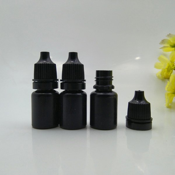5G Empty Eye Dropper Bottles 5ml Botellas de plástico Squeezable Dropper Eye Liquid Dropper Dropping Bottles (Negro)