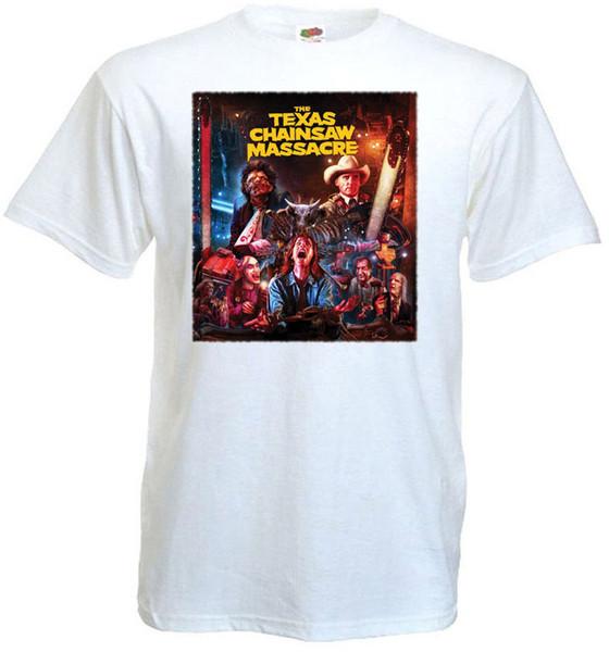 The Texas Chain Saw Massacre V10 T Shirt White Movie Poster All Sizes S - 3xl Summer Style Hip Hop Men T-shirt Tops