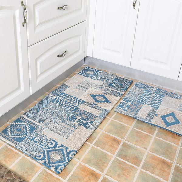 50X80+50X120CM American Style Kitchen Mat Home Entrance/Hallway Doormat Anti-Slip Bathroom Carpet Balcony/Wardrobe Area Rug