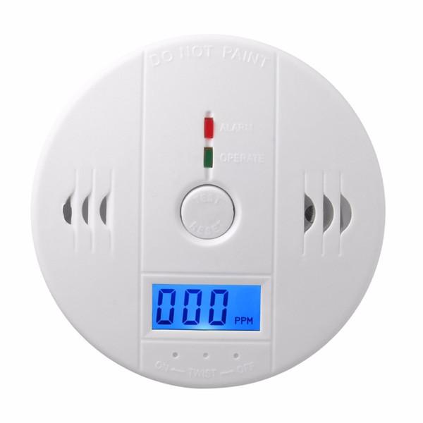 Alta Sensível Sem Fio Monóxido de Carbono Detector de Gás CO Detectores de Alarme de Luz de Fundo Digital LCD Casa Casa Sistemas de Alarme de Segurança