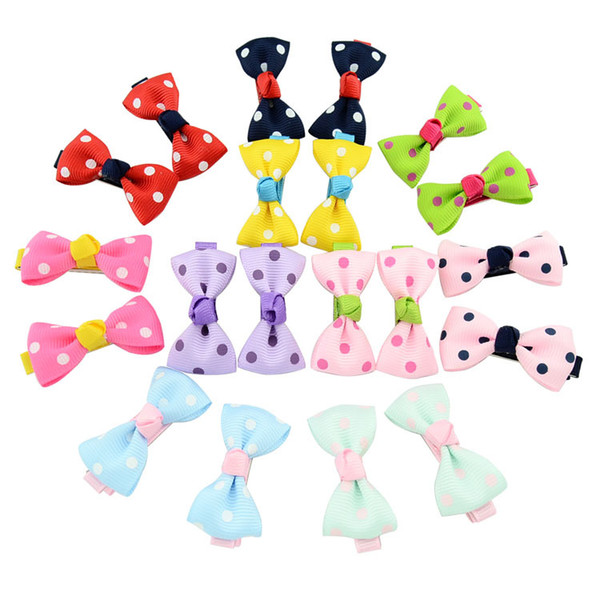 50 Pcs 4.5cm Bowknot Baby Hairpins Mini Hair Barrettes Bows Clips For Girls Kids Toddlers Teens Barrettes BY791