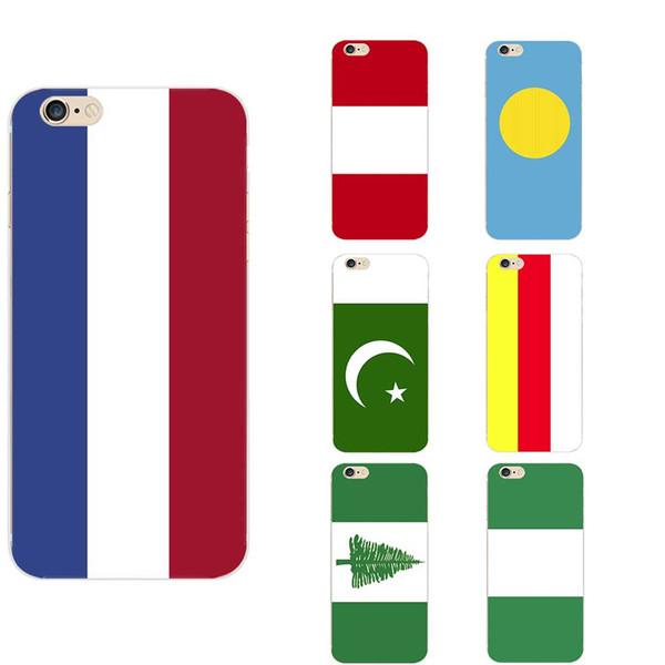 Países Baixos Nigéria Norfold Ilha Ossétia do Norte Paquistão Palau Peru Bandeira Nacional Tema Casos de Telefone TPU Para iphone 6 / 6s / 7/7 s / 8 s / x
