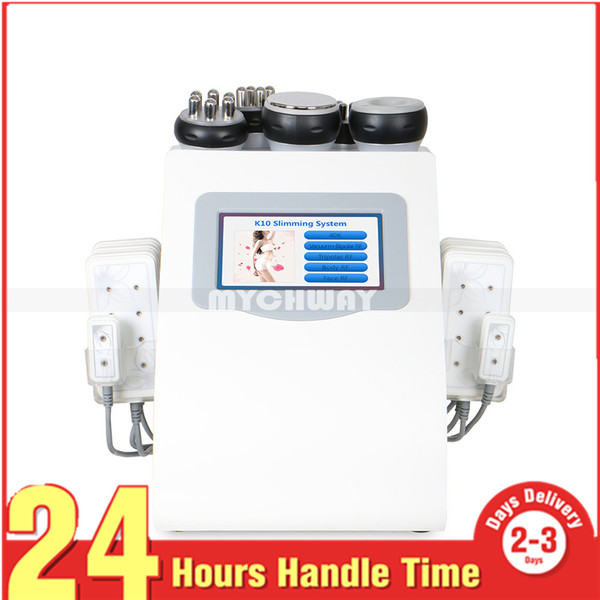 Bedava hediye! 6 in 1 Lipo Lazer Kavitasyon Makinesi Vakum Radyo Frekansı Lipo Lazer Vücut Zayıflama Kavitasyon Makinesi için Spa