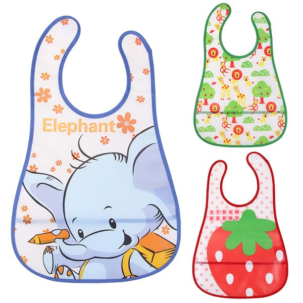Baby EVA Waterproof Lunch Feeding Bibs Newborn Baby Cute Cartoon Feeding Cloth Towels Children Apron Kids Feeding Accessories free shipping