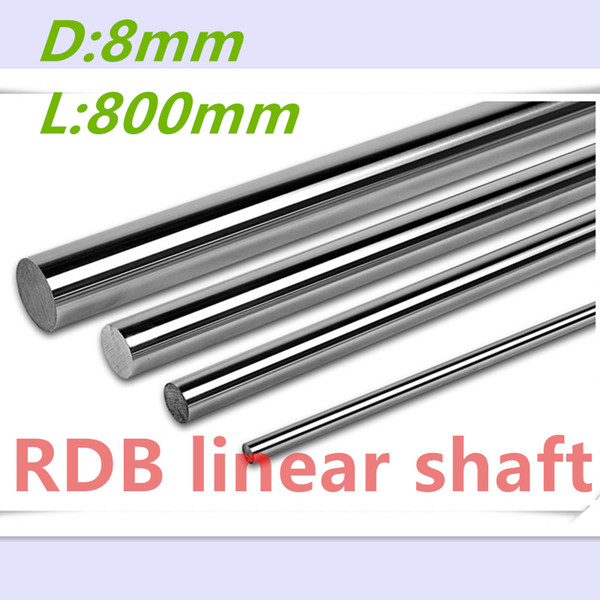 best selling 2 pcs 3D printer rod shaft 8mm linear shaft 800mm chrome plated linear motion guide rail round rod 8mm 800mm