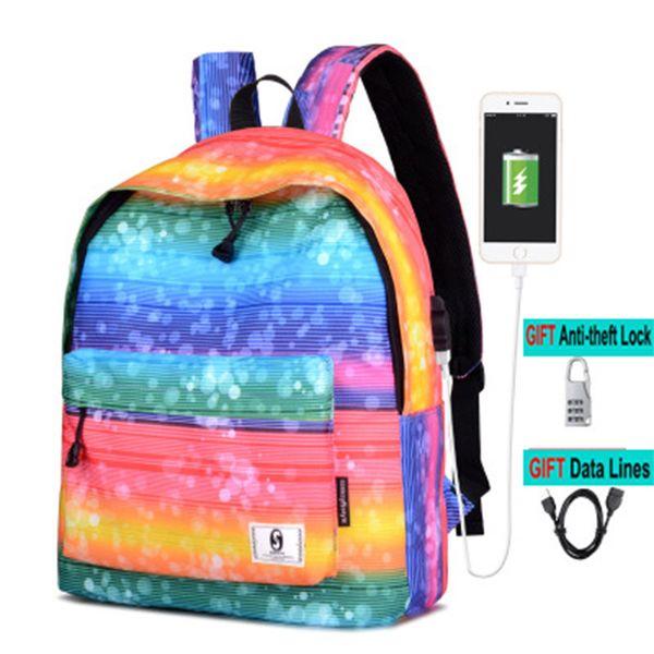 Stars Universe Space Printing Female Backpacks Women Backpack For Girls Men Travel Backpack For College Student Star Schoolbag
