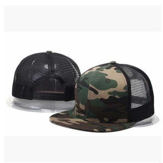 Wholesale summer style adjustable Blank mesh camo baseball caps snapback hats for men women fashion sports hip hop bone