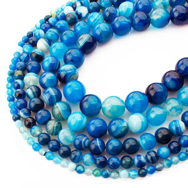 """8 mm Naturel Ronde Bleu Turquoise Perles Collier 36/"""" Fashion Jewelry"""