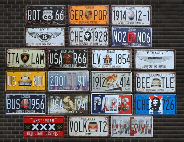 Route 66 Coffee I Love Beer Metal License Plate Home Decor Tin Sign Bar Pub Cafe Garage Decorative Retro Metal Painting