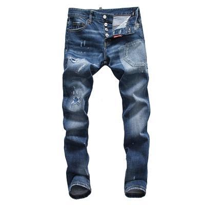 Nouveaux Hommes Jeans Slim Casual Biker Jeans Denim Genou Trou trou déchiré Pantalon Lavé Haute qualité Livraison Gratuite SQL06