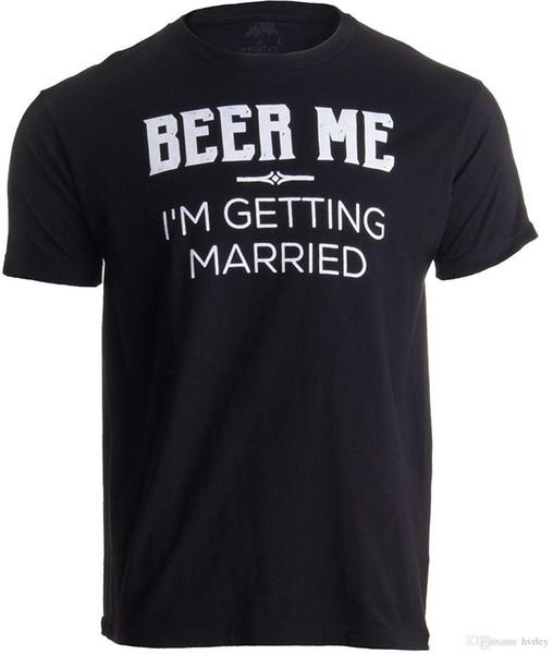 Ann Arbor T-shirt Co. Bier Moi, je cherche des ennuis / Bruidegom Bruidsjonkers Grappige Bachelor Party T-shirt blague