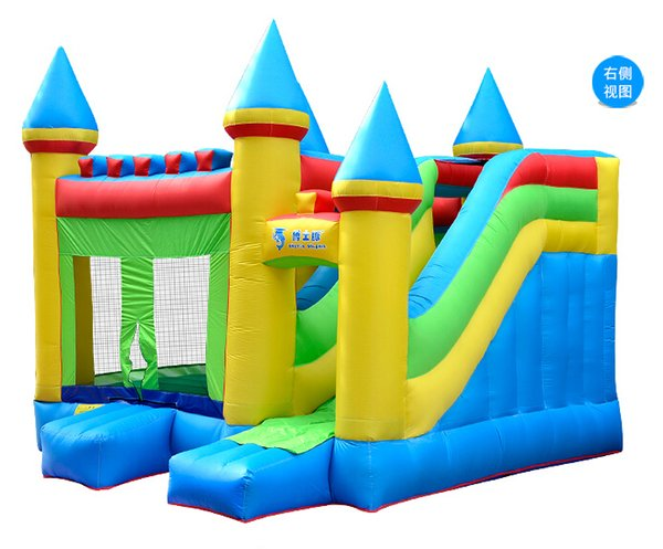 free shipping water Park Inflatable Jumping Bouncy Castles With Slides For Sale