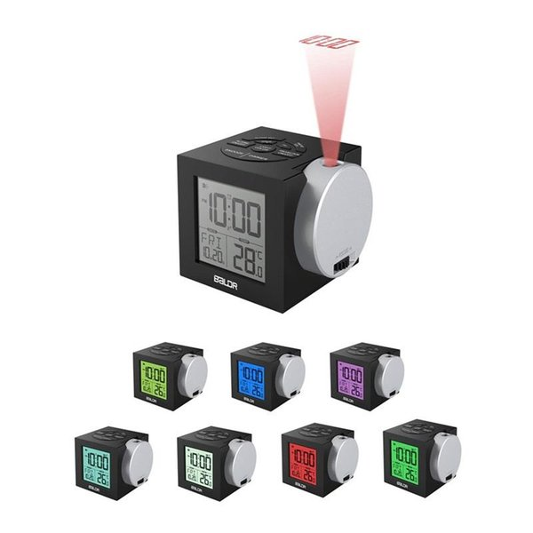 LCD Projection Alarm Clock Multi Function Backlight Electronic Digital Projector Watch Desk Clocks Plastic Timepiece New Arrival 88ym BB