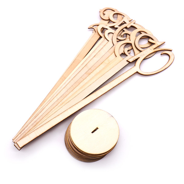 10pcs/lot Wedding Party Hot Style Wooden Wedding Place Holder Table Number Figure Card Digital Seat Decoration Supplies