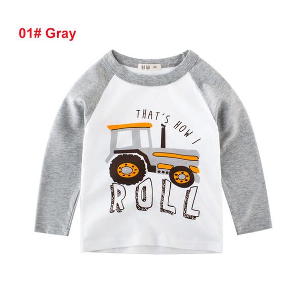 2 à 8 ans garçons tombent voiture T-shirts imprimés, tops de mode automne / printemps enfants, vêtements de boutique adolescent bébé enfants, WHOLESALE, 2AZB809TP-77