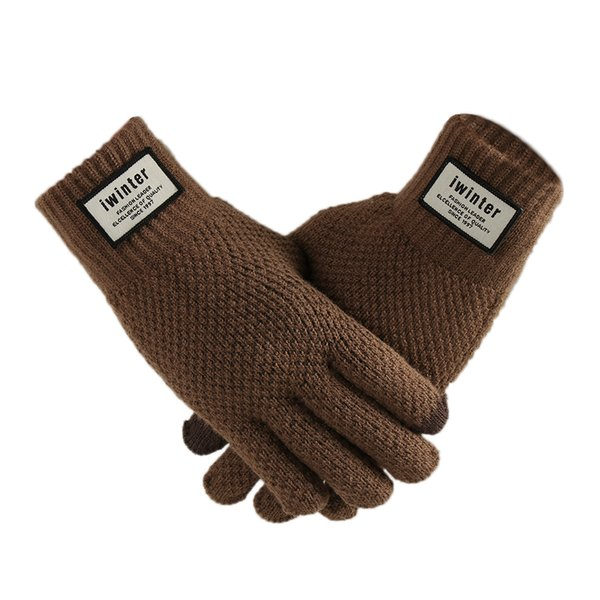2018 Newest Men Knitted Touch Screen Gloves Male Winter Autumn Thicken Warm Gloves Men Mitten Business Knitted Solid Glove
