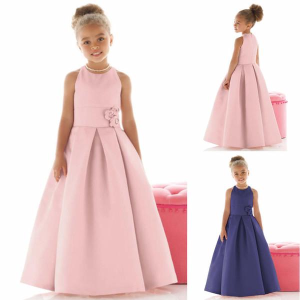 Compre 2019 Vestidos De Niña De Las Flores Vestidos Baratos De Las Muchachas Reales De La Flor Niños Del Niño Vestido De Niña De Las Flores Para Las