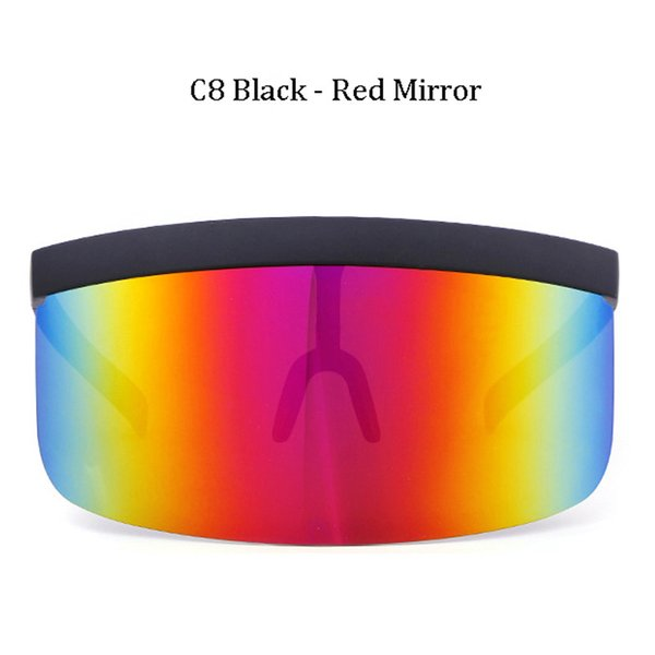C8 Miroir Rouge Cadre Noir