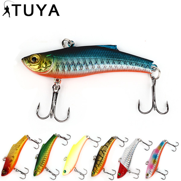 1pcs wobbler vibration Fishing Lure 7.3cm 18.95g Minnow artificial bait bass VIB sinking Full Swimming Layer whopper plopper Y18100806