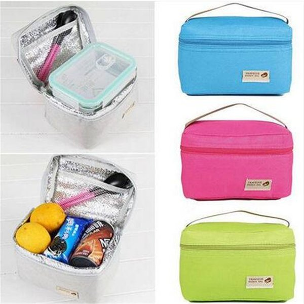 2018 Free shipping Portable Insulated Thermal Cooler Bento Lunch Box Tote Picnic Storage Bag Pouch