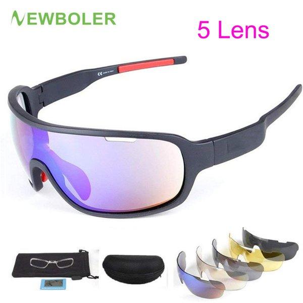 5a7d981f02 NEWBOLER Polarized Sports Sunglasses 5 Lenes para Hombres Mujeres Ciclismo  Bicicleta Correr Pesca MTB Gafas de