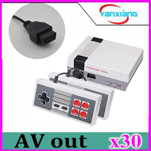 30pcs Wholesale MINI Vedio Game Console Family TV Out Game Players for Child And Adult Support NES Games With Box Via DHL YX-NES-01