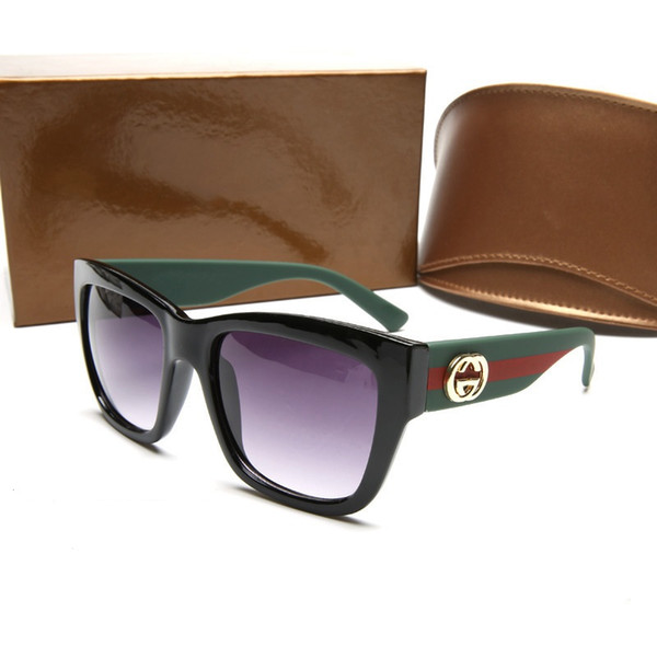 A + kalite Tasarımcı Güneş Gözlüğü Marka SUNGlasses Açık PC Farme Moda Klasik lüks Sunglass Aynalar Kadınlar ve erkekler için 0034 ...